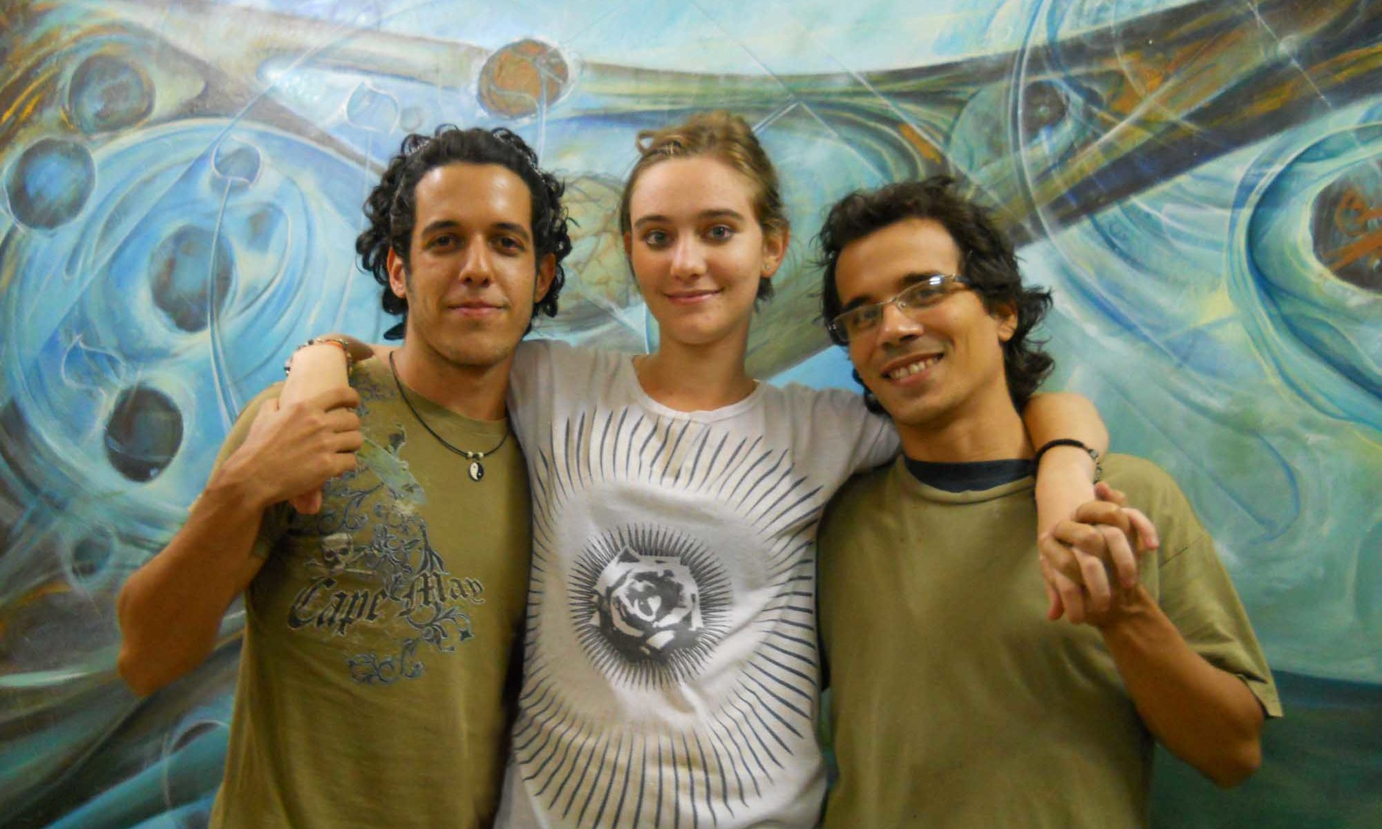 From left to right: John Cambra, Camila Ramirez, Dashel Hernandez. February 2014. Camaguey, Cuba